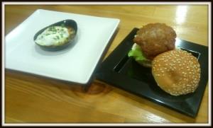 Terciopelo de patata y mini-hamburguesa de cordero en Donde siempre, Café Bistró